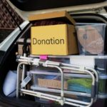 trunk packed with items for donation