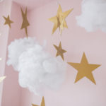 hanging stars and cloud decoration for kids room