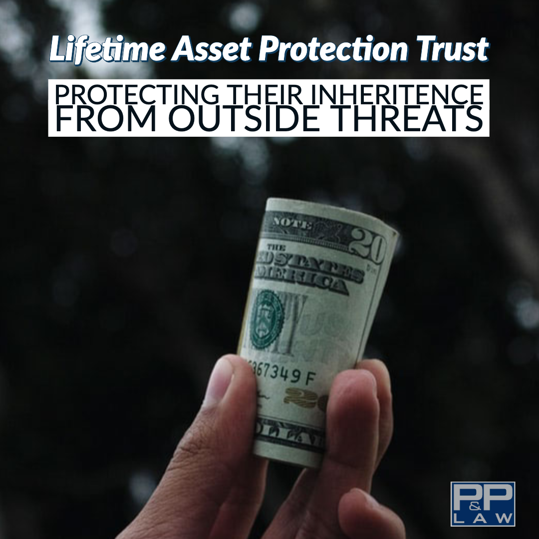 Lifetime Asset Protection Trust with hand holding roll of cash